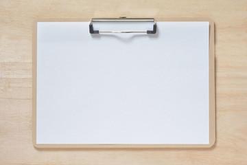 クリップボード 白紙