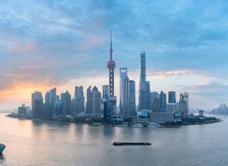 Foto op Aluminium Shanghai shanghai skyline panorama