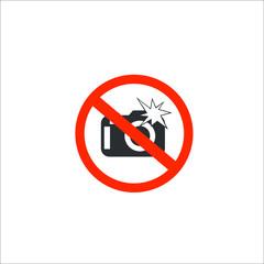 No flash icon. Vector Illustration