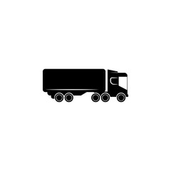 lorry with a trailer icon. Transport elements. Premium quality graphic design icon. Simple icon for websites, web design, mobile app, info graphics