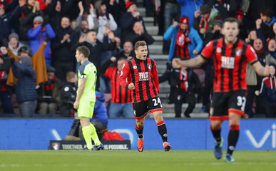 Bournemouth's Ryan Fraser celebrates scoring their second goal