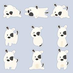 cute sticker with cute dogs