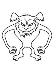gefährlich gnom frech klein monster horror halloween böse ork troll comic cartoon clipart