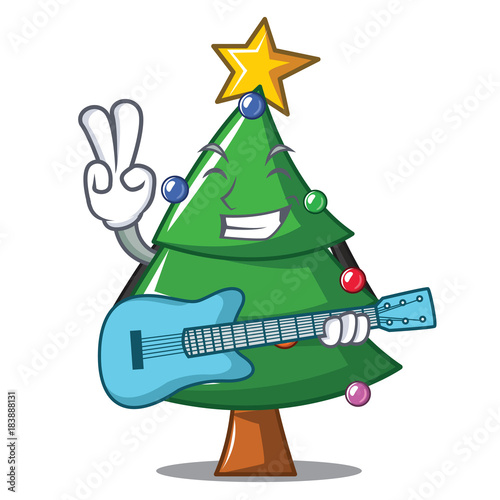 Christmas Tree Guitar