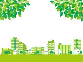 新緑 町並み