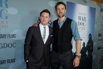 "Executive Producers Channing Tatum and Reid Carolin pose for a picture at the premiere of ""War Dog: A Soldier's Best Friend"" in Los Angeles"