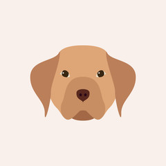 Head dog. Simple pet. Vector illustration.
