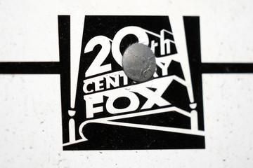 The Twenty-First Century Fox Studios logo is seen in Los Angeles