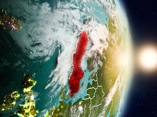 Sweden during sunrise