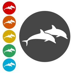 Dolphin fish animal silhouette, Silhouette dolphin