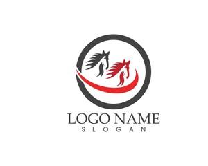 Horse logo design template