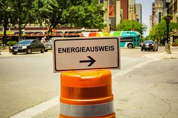 Schild 292 - Energieausweis