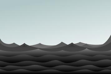 Black oil sea.