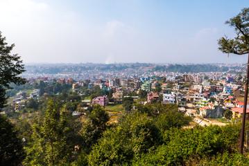 Nepal Kathmandu mit blauem Himmel im Sommer