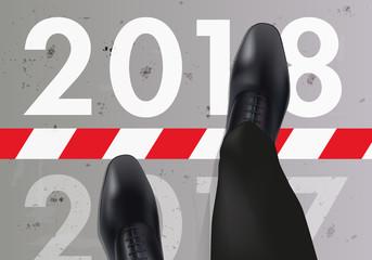2018 - entreprise - objectif - challenge - carte de vœux - année - présentation - vision - perspective