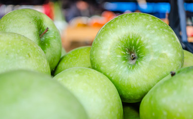 Granny Smith apples in the market