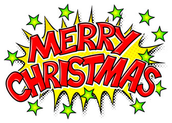 Merry Christmas Comic Effekt