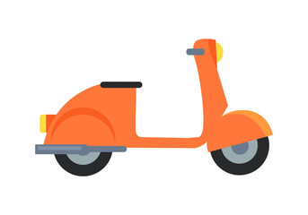 Icon of Motor Scooter Vector Illustration