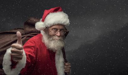 Santa giving a thumbs up