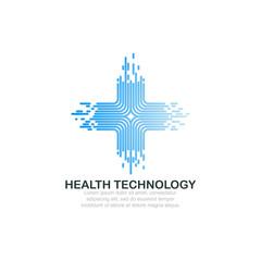Health technology logo template