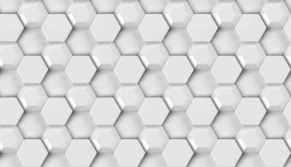 3D design texture white hexagon tiles