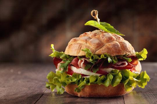 Tasty Italian sandwich.