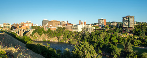 spokane washington city skyline and streets