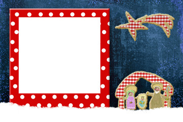 Christmas frame for children or babies