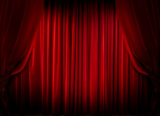 Red Curtain, Cinema Fee, Theater Stage