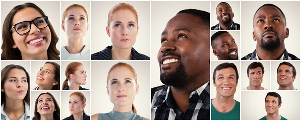 People collage portrait 6x2