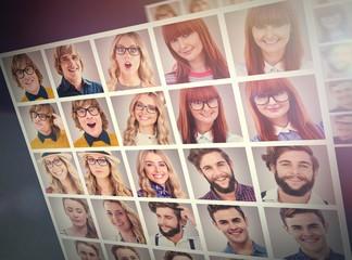 People collage portrait 5x5
