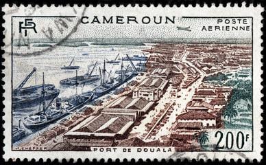 Douala Port Stamp
