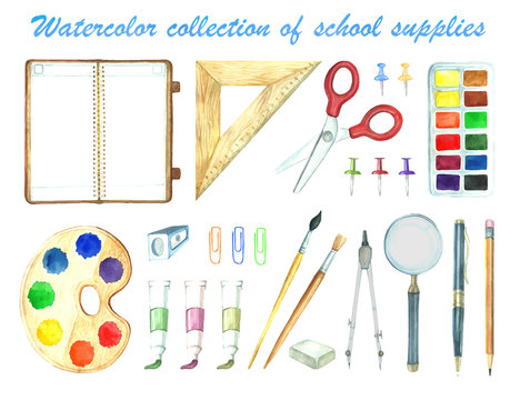 Stationery in watercolor.