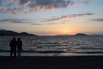 Sunset sunset in the resort town Hatchie,Mugla, Turkey