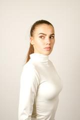 girl in white dress