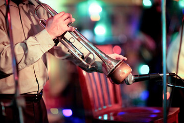 trumpet with bokeh