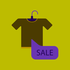 Flat icon of sale T-shirt