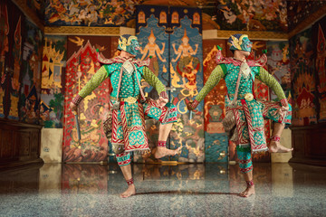 Thailand. The giants is character of Ramakien s of story culture of Thai and Asia.