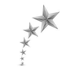 Vector illustration of silver star