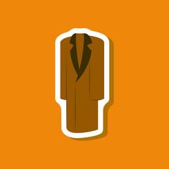 paper sticker fashion clothes long coat