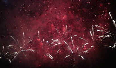 Beautiful colorful holiday fireworks