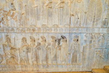 Relief with Lydians in Persepolis, Iran