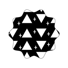contour star with memphis style geometric design background