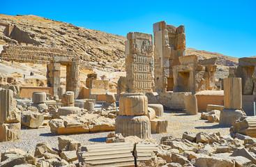 In ancient Persepolis complex, Iran