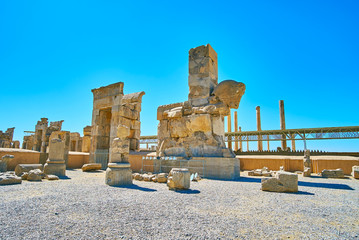 Preserved architecture of Persepolis, Iran