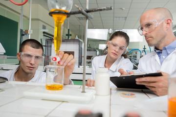 interns in the laboratory