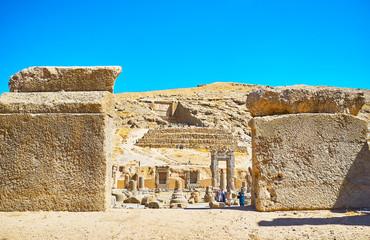 Among the ancient stones of Persepolis, Iran