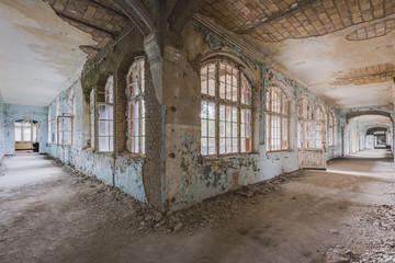 Canvas Prints Old Hospital Beelitz Lost Hallway
