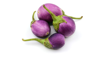 Eggplant vegetable on white background