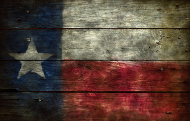 Aluminium Prints Texas flag of texas